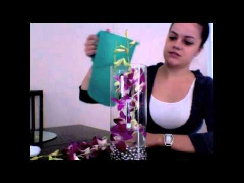 Wedding Event Orchid Flower Centerpieces (Floral Arrangment)