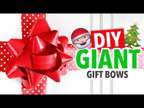 DIY GIANT Christmas Gift Bows - HGTV Handmade