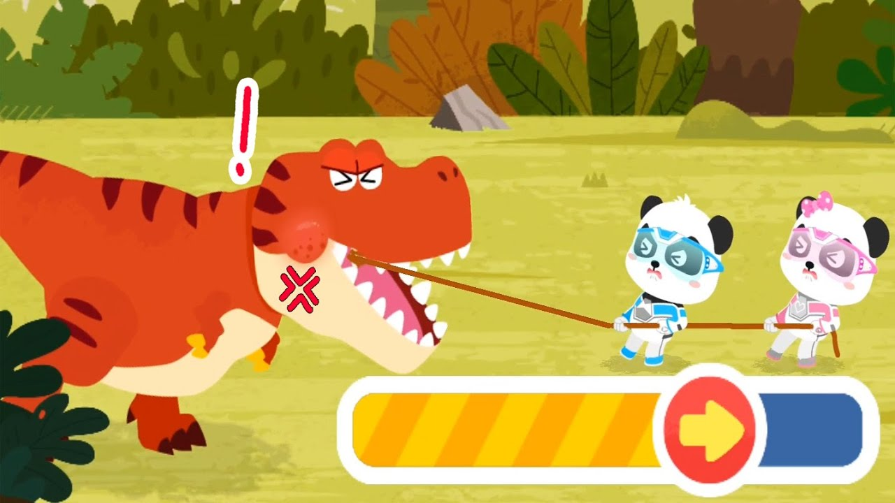 Little Panda Rescue Team   Help And Take Care Of Dinosaurs   Babybus Gameplay Video