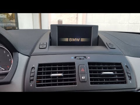 How to Remove  Navigation Display from BMW X3 2008 for Repair.