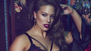 Model Ashley Graham Poses From Hotel Window In Lingerie