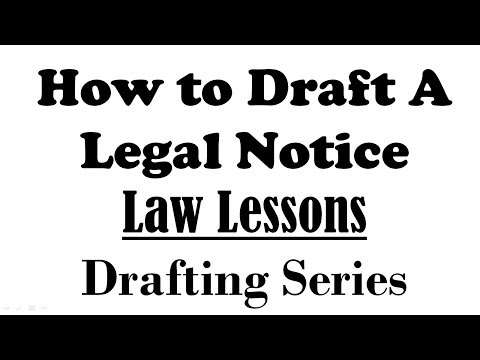 Legal Notice Drafting | Indian Law Lessons | Drafting Series
