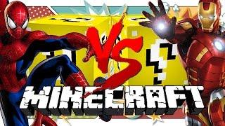 Minecraft: HERO LUCKY BLOCK CHALLENGE | IRON MAN VS SPIDER MAN!!