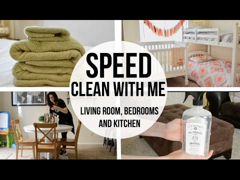 SPEED CLEAN WITH ME // Living Room // Kitchen // Bedrooms // Laundry Catch Up