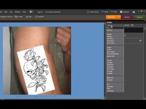 How to make a tattoo look real on Photoshop Elements
