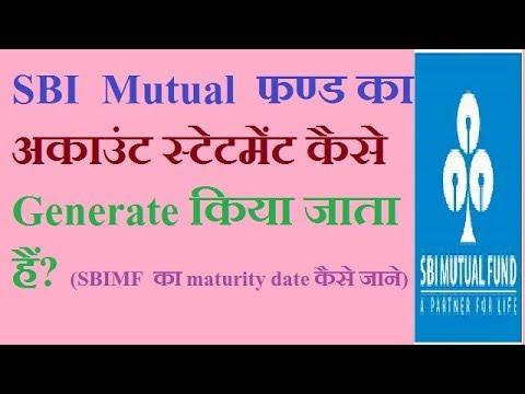 sbi mutual fund statement generate. (SBI mutual fund details)