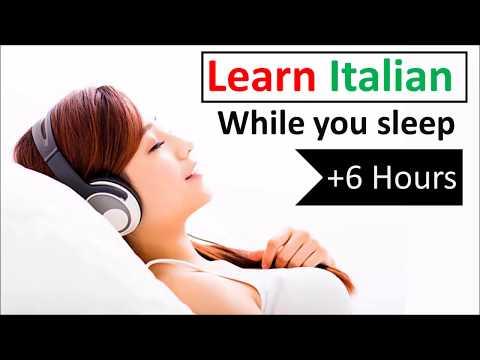 Learn Italian while you sleep ♫ 6 hours 👍 1000 Basic Words and Phrases