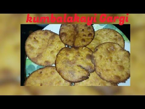 Kumbalakayi Gargi using jaggery in Kannada | Pumpkin sweet poori recipe  Part2