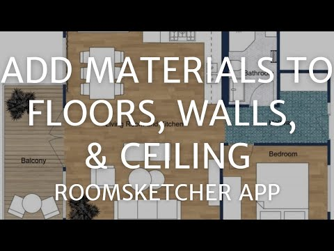 Add Materials to Floors, Walls, and Ceilings - Home Designer App