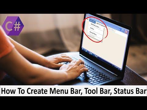 How to Create Menu Bar in C# ,Tools Bar and Status Bar In C#