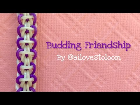 Rainbow Loom Bands Tutorial: Budding Friendship by @ailovestoloom