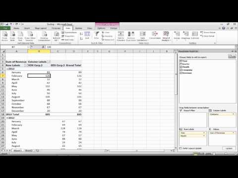 How to Sort data in a Pivot Table or Pivot Chart