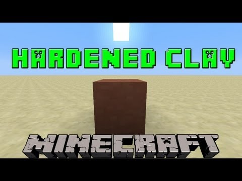 How To Make Hardened Clay in Minecraft | 1.7.9 Update