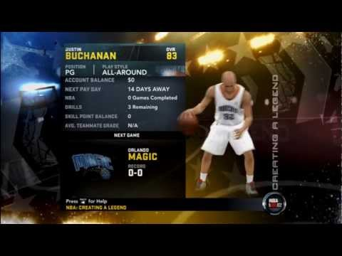 How to Put A Created Player into Creating A Legend Mode NBA 2K12