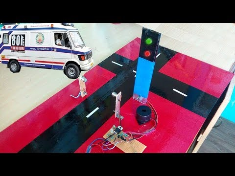 Automatic Traffic Signal for Ambulance and Fire Engines ♦ School Working Model ♦ ECE Mini Projects