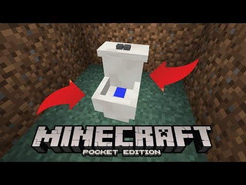 HOW TO MAKE THE BEST Minecraft Pocket Edition WORKING TOILET Minecraft Pocket Edition WORKING TOILET