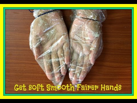 How to get soft Smooth Fairer Hands / Home Remedy for rough and dry hands (2 stapes)/wrinkles free