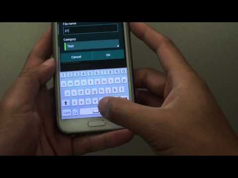 Samsung Galaxy S5: How to Rename Default Voice Recorder File Name