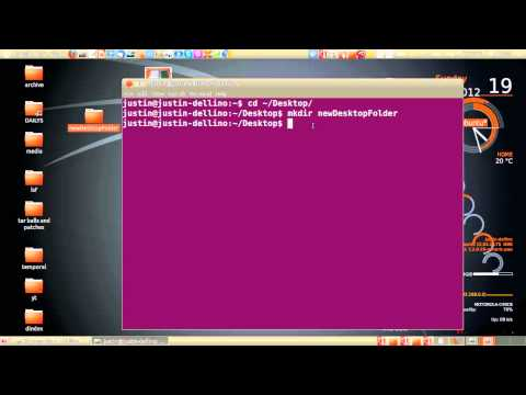 create and remove a directory - ubuntu 12.04