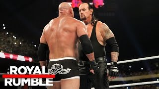 The Undertaker eliminates Goldberg in the Royal Rumble Match: Royal Rumble 2017