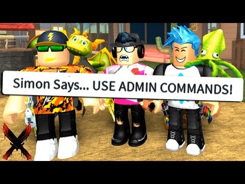 YOUTUBER SIMON SAYS WITH ADMIN COMMANDS! (Roblox)
