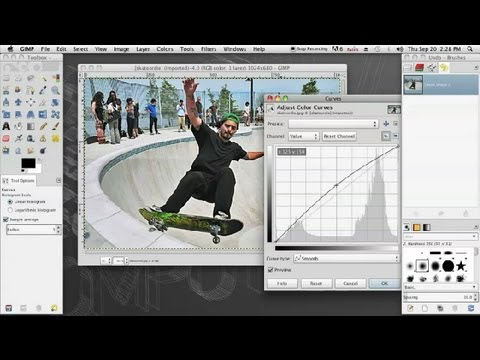 How to Lighten a Photo in GIMP : InDesign & Graphics