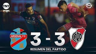 Resumen de Arsenal vs River Plate (3-3)   Fecha 10 - Superliga Argentina 2019/2020