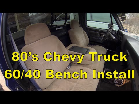 C10 Chevy Truck Install a Split 60/40 Bench Seat, 73-87 C10 R10