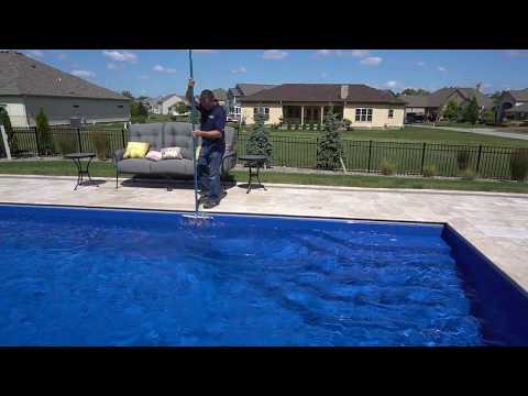 Pool School: Cleaning Your Pool : Brushing