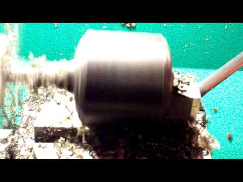 Turning a 2 Inch Delrin Rod Part 2 of 3.MOV