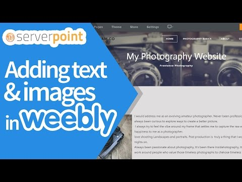 How to add/edit Title,Text and Image on Weebly - ServerPoint.Com
