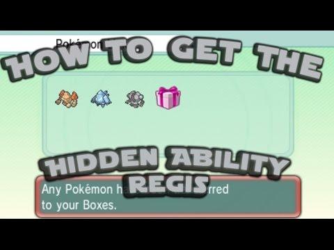 How to get the Hidden Ability Regi's! Get your Regis Today!