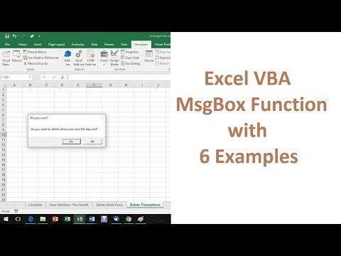 Excel VBA MsgBox Function - 6 Examples of How to Use it