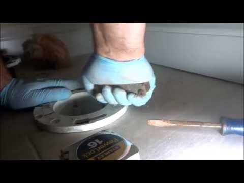 pvc toilet repair flange added to cast iron pipe