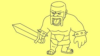 how to draw clash of clans characters barbarian king Как нарисовать