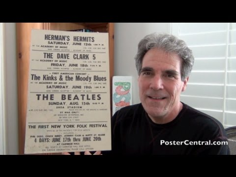 Beatles Shea Stadium Concert Poster 1965 Absolute Genuine Original