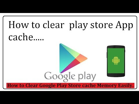 How can I clear my play store cache