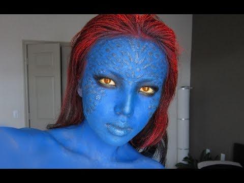 Mystique (X-men) Make-up Transformation !!!