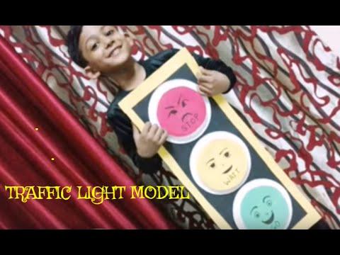 DIY School Craft  Project For Kids Traffic light Model