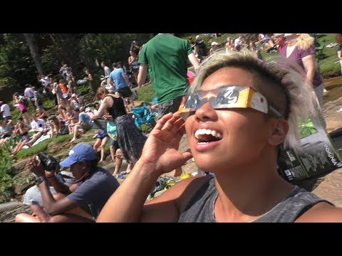 We drove 11 hours to see this!! TOTAL ECLIPSE 2017 | Falls Park Greenville, SC | Summer Vlog 005