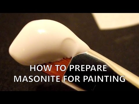 How to prepare masonite for oil painting [Gesso]