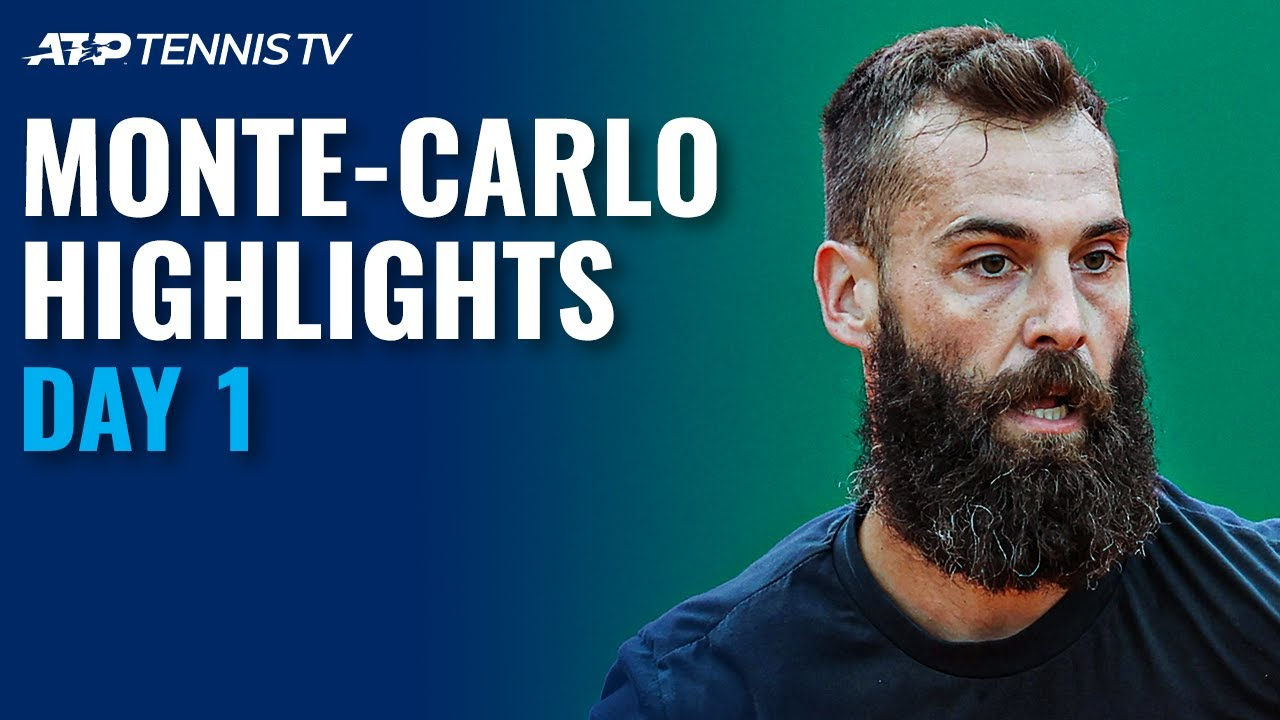 Goffin Faces Cilic; Paire vs Thompson   Monte Carlo 2021 Day 1 Highlights
