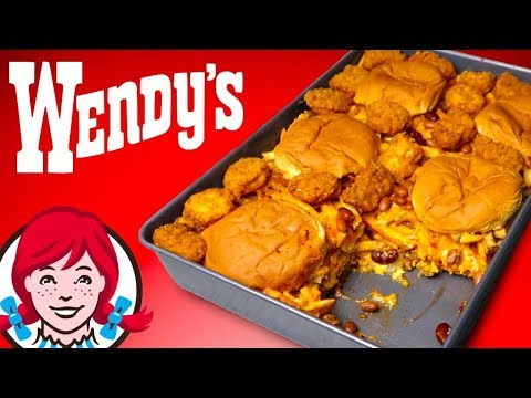 THE WENDY'S CASSEROLE - How To Make Burger, Chili, & Fries Lasagna DIY