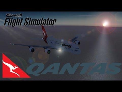 Flight Simulator X- Los Angeles to Melbourne by Qantas