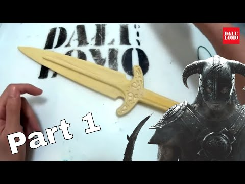 How to Make Skyrim Steel Dagger Part 1 - Wooden Prop Using X-Carve