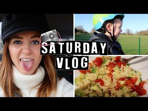 VLOG | SATURDAY AT THE SKATE PARK & A SUPER HEALTHY DINNER