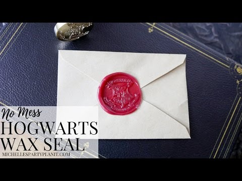 DIY Hogwarts Stationery with No Mess Envelope Wax Seal
