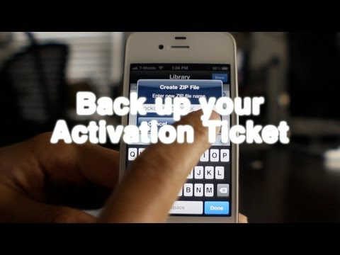 How to backup your iPhone's activation ticket (SAM unlock)