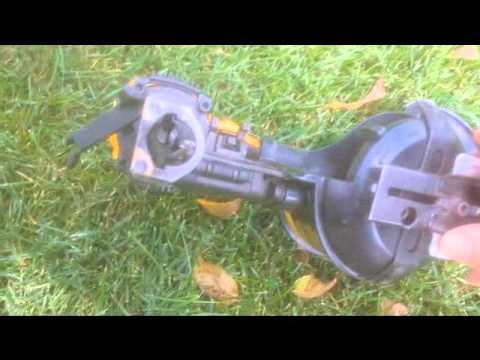 How to load the DeWalt D51321coil roofing nail gun