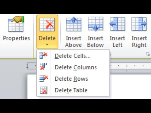 How to Delete a Table (and Table Borders) in Microsoft Word